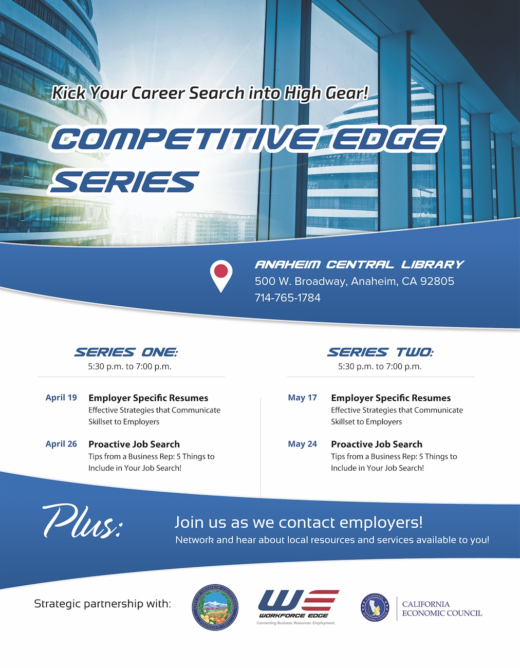Competitive Edge Workshop Series